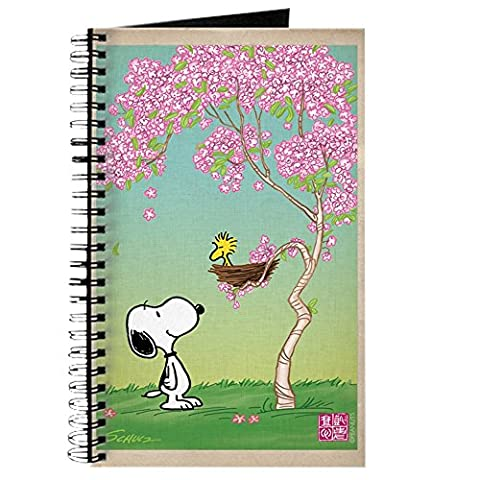 CafePress - Woodstock In The Cherry Blossoms - Spiral Bound Journal Notebook, Personal Diary, Lined