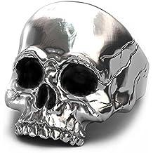 30b66f19ca53 ... anillos de hombre para meñique. EVBEA Anillo de Plata para Hombre  Diseño de Calavera Ideal como Regalo para el Día del