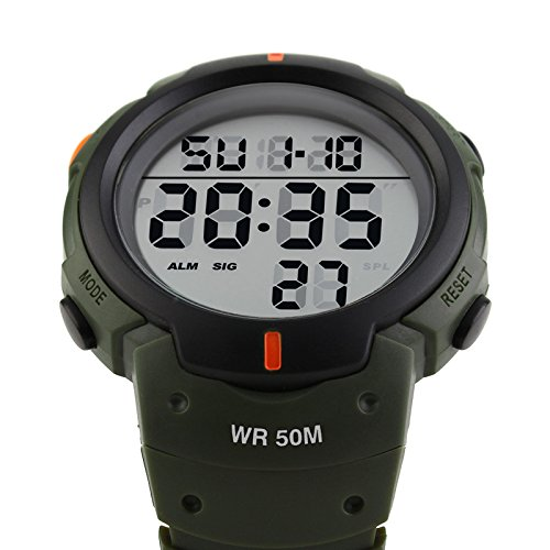 iLove-EU-Herren-Armbanduhr-50m-Wasserdicht-Digital-LED-Alarm-Datum-Uhr-Sportuhr-Armee-Grn-Schwarz