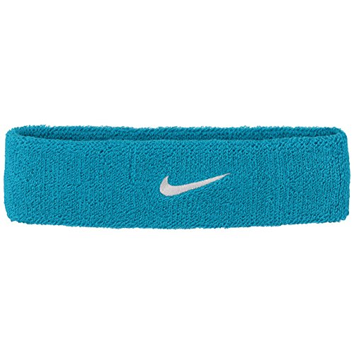 Nike Erwachsene Swoosh Stirnband, Neo Turq/White, One Size Nike Swoosh Stirnband