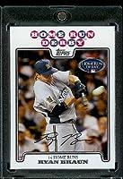 Ryan Braun hrd (Home Run Derby) Brewers de Milwaukee 2008Topps mises à jour et met en évidence le baseball carte vis en bas