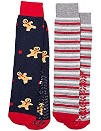 Totes Women's Twin Pack (2 Pairs) Original Slipper Socks