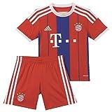 adidas Kinder Trikot und Short FC Bayern Home Mini Kit, Fcb True Red/Collegiate Royal/White, 110, F48508
