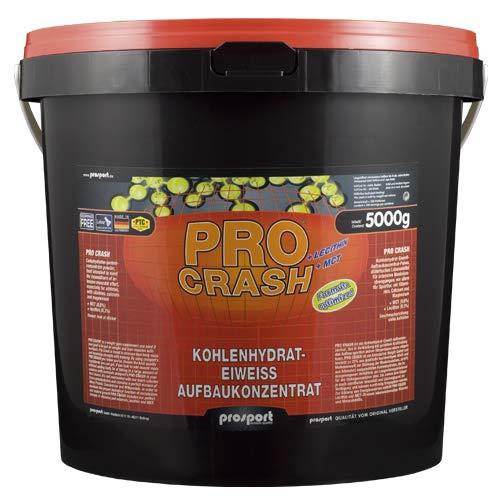 Prosport - Pro Crash, 5000g Eimer, Weight Gainer, Kohlenhydrat-Eiweiss Aufbaukonzentrat, Geschmacksrichtung: Erdbeere