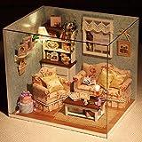 QIANBAOBAO DIY Haus Selbstgemachte Hütte mit kreativem Geschenk des Handgemachten Hausmodells des...
