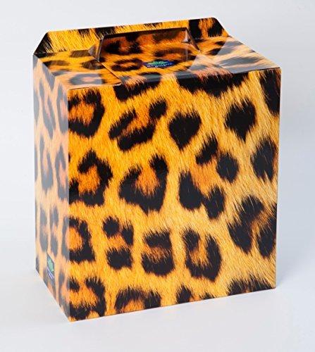 Leoparden druck Einweg Sanitär Behälter - 4 Pack von Brilliant Bins: Preisgekröntes, Preiswert, Keine Verträge