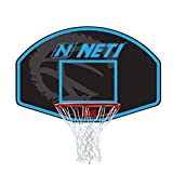 NET1 Vertical 76x50cm Backboard & ~Goal - Sistema de Baloncesto, Color Azul