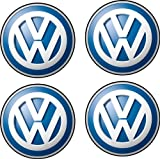 Pegatina autoadhesiva, plancha de 4 unidades, 5 x 5 cm de diámetro, diseño de logo Volkswagen