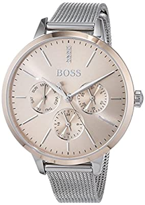 Hugo BOSS Unisex-Adult Multi dial Quartz Watch with Stainless Steel Strap 1502423