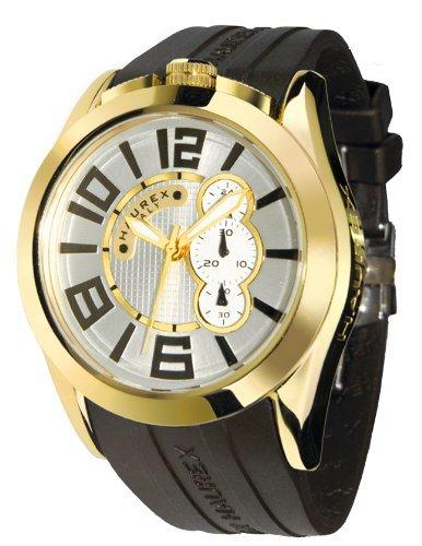 Haurex Italy - 3G333USY - Montre Homme - Quartz - Chronographe - Bracelet Caoutchouc noir