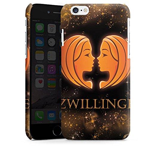 Apple iPhone 6 Housse Étui Silicone Coque Protection Signes du zodiaque Jumeaux Ésotérisme Cas Premium brillant