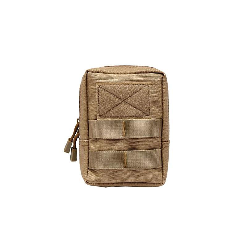 Shiningup Waterproof Outdoor Waist Bag 1000D Multifunctional EDC Molle Tool Zipper Waist Pack Accessory Durable Belt…