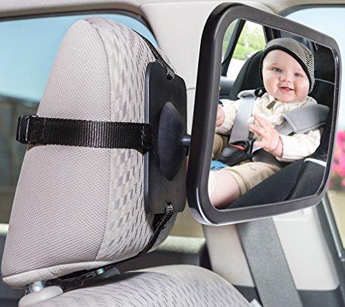 Vue arrière Panier Bébé Bébé Siège d'auto pour bébé Rétroviseur monté Miroir intérieur de la voiture Miroir de sécurité
