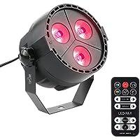 Tomshine 15W 3 LEDs 8 Canali RGBP 4-in-1 Effetto Fase Luce Supporto DMX512 Suono-attivato Modalità Automatica con Telecomando Per Disco KTV Club Party Pub Bar