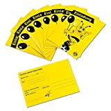 Borussia Dortmund Einladungskarten / Karten / Postkarte 10er Set BVB 09 - plus gratis Aufkleber forever Dortmund