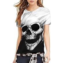 Corta Camicia Donna Con Teschio Camicia yP8nmNwO0v