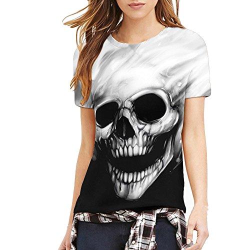 Luotuo Paar Damen T-Shirt, Neu Sommer Lustige Rundhals Kurzarm Beiläufig Große Größe T-Shirt Digital Tierdruck Tops Moderner Mode Tee Regular Fit Bluse für Männer Fun-Shirt -