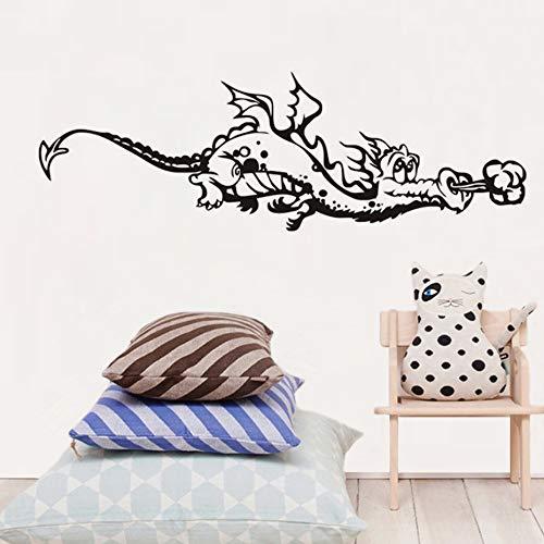 Cut Cartoon Dragon Flying Wandaufkleber Für Kinder m Dekoration Kinder Baby Abziehbild Mu125 cm X 41 cm