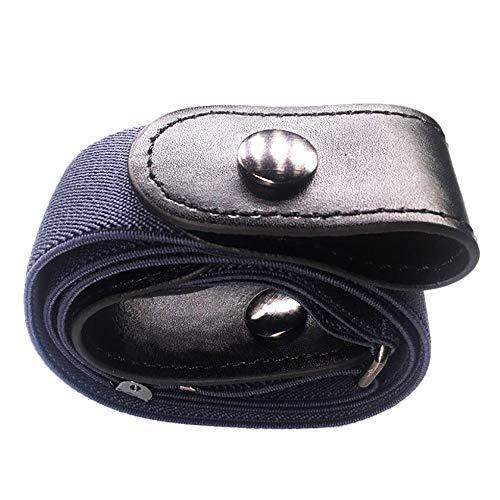 TAOtTAO Schmale elastische unsichtbare Gürteljeans einfacher wilder Herren- und Damen-Lazy-Gürtel Xmas Gift Buckle-free Women Men Unsichtbarer elastischer Gürtel für Jeans Keine Beule ()