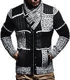 LEIF NELSON Herren-Strickpullover |Strick-Pulli mit Schalkragen | Moderner Zip Woll-Pullover Langarm-Sweatshirt mit Knöpfen Kleidung Männer