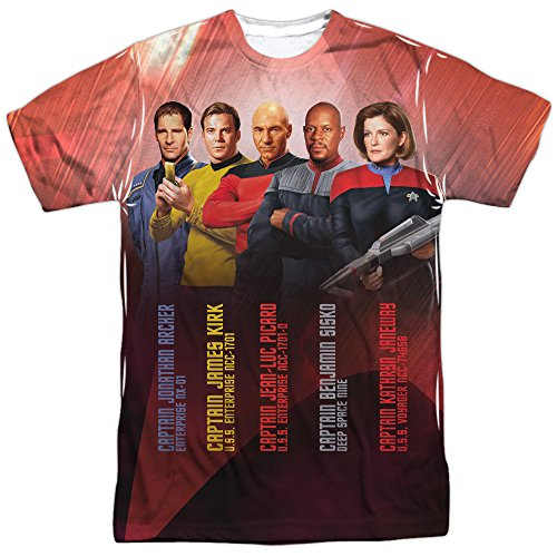 Star Trek Captains (Front Back Print) Mens Sublimation Shirt