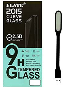 Elate Tempered Glass with usb light for Micromax CANVASHD A116