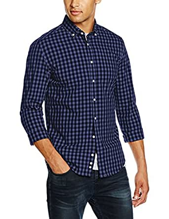 Redford Men's Slim Fit Casual Shirt, Blue (Blau), Neck Size: 38 cm (Manufacturer Size: 38)