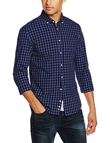 Redford Herren Freizeit Hemd Kariert Slim Fit, Blau (Blau 40), 3XL (Herstellergröße: 47/48) (Kariertes Blau Flanell-hemd)