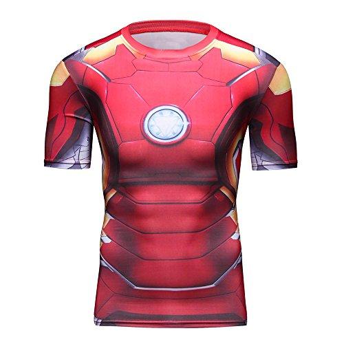 Generic - T-shirt de sport - Homme rouge Red Medium - rouge - Medium