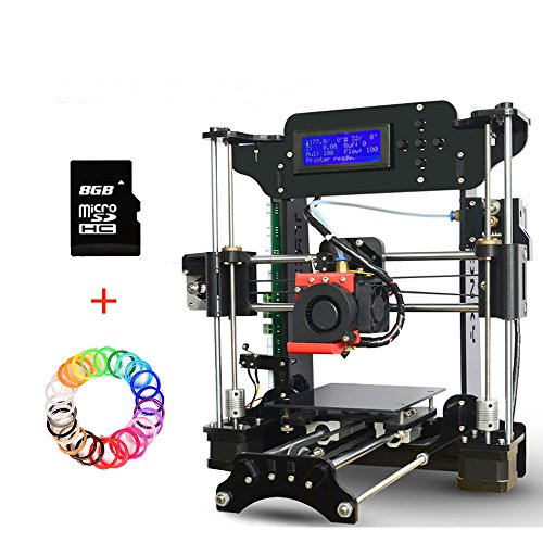 Price comparison product image 3D Printers Desktop Prusa i3 3D Printer Kit,  High Precision Self-assembly DIY 3D Machine Equipped with MK10 Extruder Acrylic Frame 2004A LCD Screen 8GB SD Card for Video and PDF Installation Guide