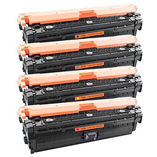 Tito-Express PlatinumSerie 4X Laser-Toner XXL kompatibel mit HP CP5220 CP5225 CP5225 N CE740A - CE743A (Hp Cp5225 Toner)