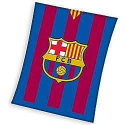 FCB FC Barcelona–Manta Polar, poliéster, Rojo/Azul, 110x 140x 2cm