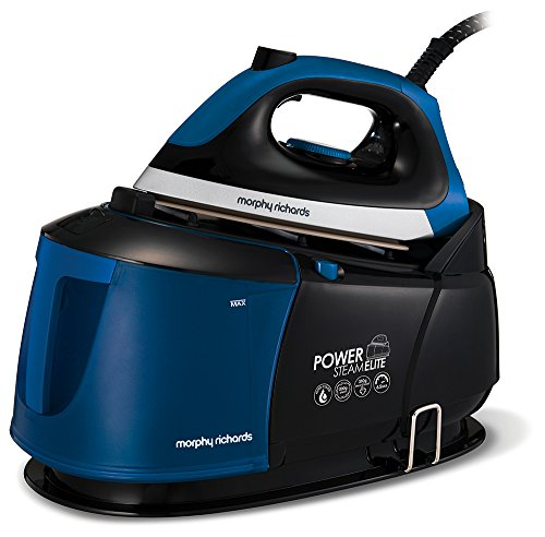 Morphy Richards Power Steam Elite Steam Generator with Auto-Clean and Safety Lock 332016 Steam Generator Iron 6.5 Bar Blue/Black Best Price and Cheapest