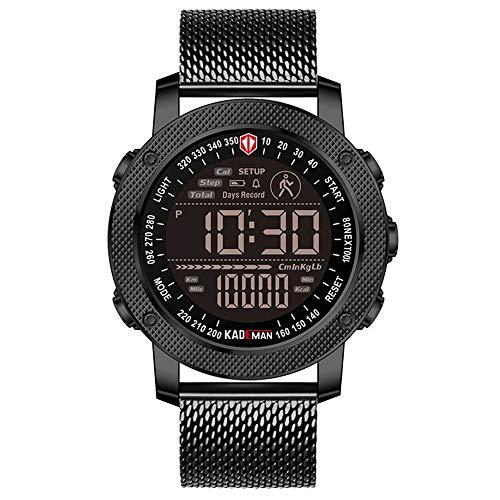 Herrenuhr Mode Wasserdichter Sport Chronograph Analog Quarz Edelstahl Lederuhren Herren Armband Armbanduhr