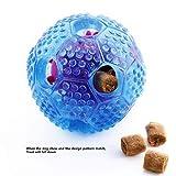 Hunde Ball,DAREYOU IQ Treat Ball für Hunde ungiftig Haltbare Gummi kauen Spielzeug Bälle