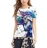 Lannister Fashion Camisetas Mujer Verano Unicornio San Valentin Impresión Tops Manga Corta C...