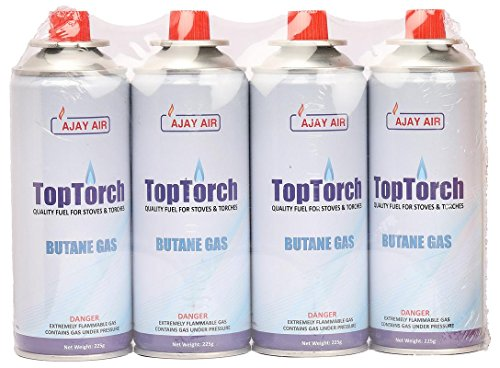 Top Torch® Butane Fuel Gas Can, 225 g (Pack of 4)