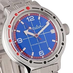 Vostok Amphibian 420331Ruso Militar reloj 2416b 200m auto azul marino de Vostok Amphibian