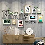 WollWoll Family Word European Living Room Bedroom Abstract Art Photo Frame Set (172 cm x 1.6 cm x 96 cm)