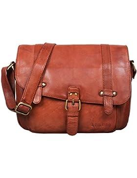 STILORD 'Lara' Vintage Umhängetasche Damen klein Leder Handtasche zum Ausgehen Party Freizeit Umhängetasche Schultertasche...