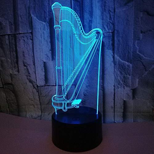 Harfe Lampe Bunte Note Led Visuelle Lampe Geschenk Atmosphäre Musik Geschenk Tischleuchte