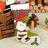 Top Shishang 1 stücke Luxus persönlichkeit handgemachte Jute Retro Weihnachten Strumpf 3D Weihnachtsmann/schneemann / Rentier süßigkeiten Geschenk füllung Tasche, Gras grün, Alten Mann sockings