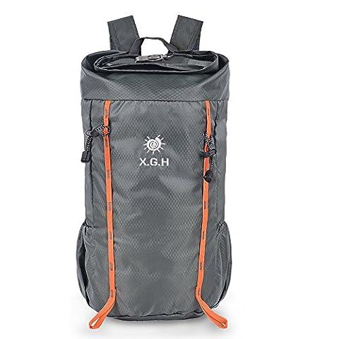 Vbiger 25L Rucksack Leichte Rucksack Nylon Outdoor Rucksack Faltbare Sportrucksack für Damen und Herren