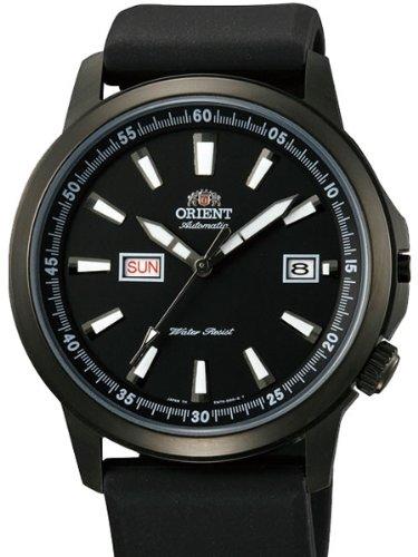 Orient 42mm PVD nero Stingray-Orologio automatico con giorno e data quadrante nero em7K003b
