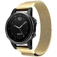 SO-buts Garmin Fenix 5S/5S Plus Armbänder Edelstahl,Magnetisch Armband Mailand,Schnelle Ersetzen Strap,für Garmin Fenix 5S/5S Plus