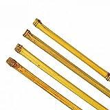 10 Stück Bambusstäbe Tonkinstäbe Pflanzstäbe Ø 15-18 mm x 150