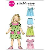 Children's/Girls' Top, Dresses and Shorts, M6261, All Sizes