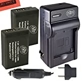 BM Premium 2-Pack of LP-E17 Batteries and Battery Charger for Canon EOS M3 EOS Rebel T6i Rebel T6s EOS 750D EOS 760D EOS 8000D KISS X8i Digital SLR Camera