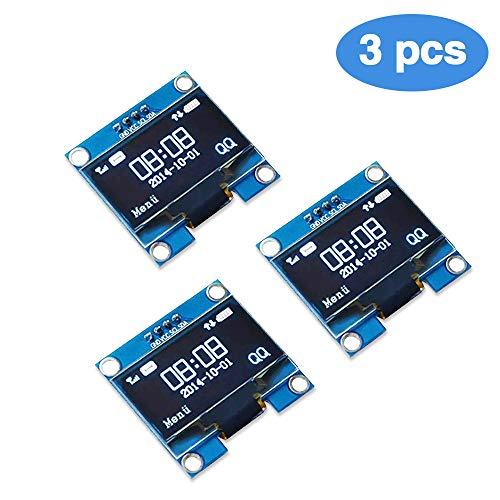 PEMENOL 3 STK  128 x 64 OLED Display Modul 0,96 Zoll Anzeigemodul I2C IIC  Seriell SSD1306 für Arduino, Raspberry Pi und Mikrocontroller - Weiß Licht