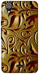 The Racoon Lean Gold Weave hard plastic printed back case for Micromax Canvas Selfie Lens Q345